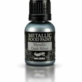Maling spiselig Metallic - Dark Silver 25ml