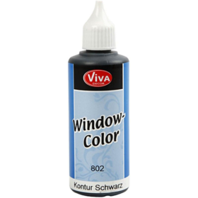 Window-Color 80ml, kontur sort