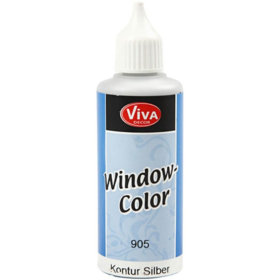 Window-Color 80ml, kontur sølv