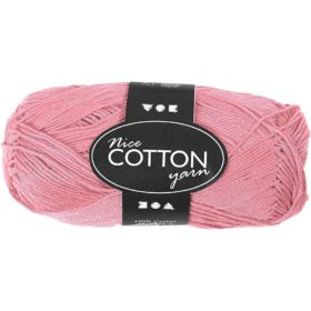 Cotton 100% bomull 50g - lys rosa