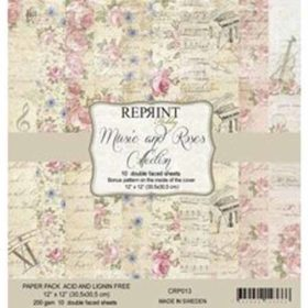 Reprint Music & Roses 12x12 Inch Paper Pack