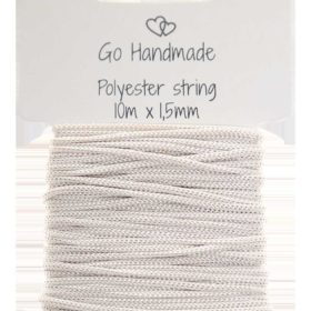 polyester string, beige 10m x 1,5mm