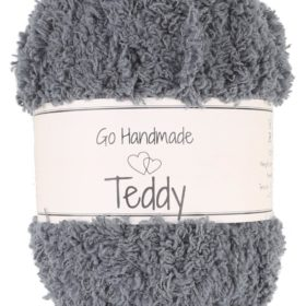 Teddy 50g, 100% polyester, grey