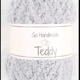 Teddy 50g, 100% polyester, light grey