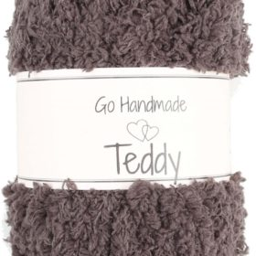 Teddy 50g, 100% polyester, dark brown