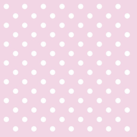 Serviett pastel dots rose, 33x33