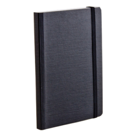 EcoQua notebook A6 prikker sort