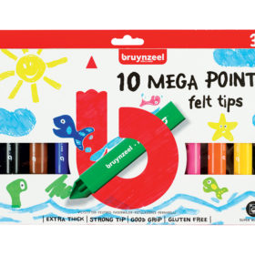 Bruynzeel KIDS – Mega Points-tusjer 10stk