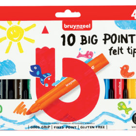 Bruynzeel KIDS – Big Points-tusjer 10stk