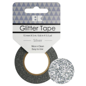 BC Glitter Tape  15mm x 5m - silver