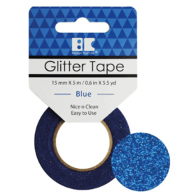 BC Glitter Tape  15mm x 5m - blue