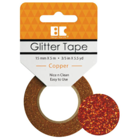 BC Glitter Tape  15mm x 5m - copper