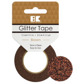 BC Glitter Tape  15mm x 5m - brown