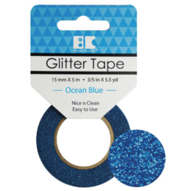 BC Glitter Tape  15mm x 5m - ocean blue