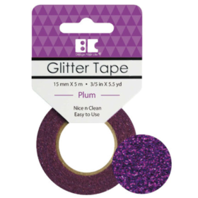 BC Glitter Tape  15mm x 5m - plum