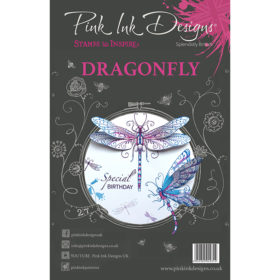 Pink Ink Designs A5 Clear Stamp Set – Dragonfly