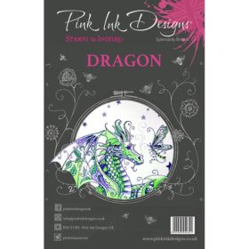 Pink Ink Designs A5 Clear Stamp Set – Dragon
