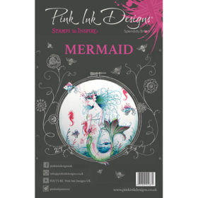 Pink Ink Designs A5 Clear Stamp Set – Mermaid