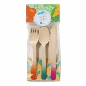 Tropical Fiesta -  wooden cutlery
