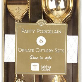 Party Porcelain - cutlery gold