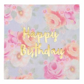 Truly Scrumptious - napkins happy birthday