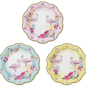 Truly Flamingo - paper plates 12stk