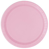 18cm round plates lovely pink