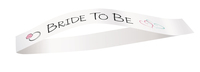 """bride to be"" ring sash"