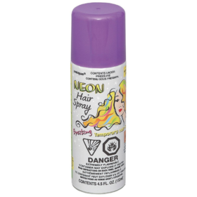 Neon hairspray purple