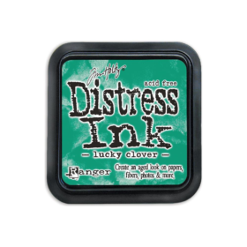 Distress ink lucky clover