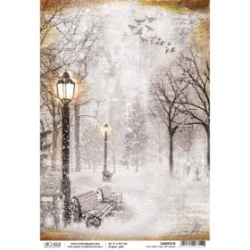 Ciao Bella Rice Paper A4 - First Fall Of Snow