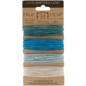 Hemp cord set - aquamarine