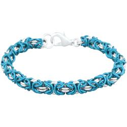 Chainmaille Jewelry Kit - Byzantine Bracelet, turquoise