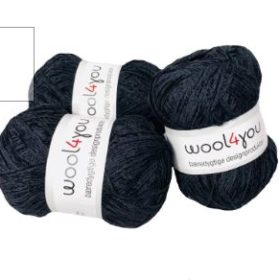 WOOL4YOU Chenille 4/5, 100g - Antrasitt 001
