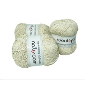 WOOL4YOU Chenille 4/5, 100g - Hvit 101