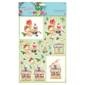 A4 decoupage pack - At Christmas festive treats