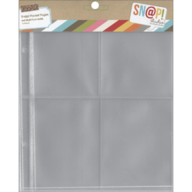 "Sn@p! Pocket Pages For 6""X8"" Binders 10/Pkg - multi"