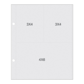 "Sn@p! Pocket Pages For 6""X8"" Binders 10/Pkg - 3x4/4x6"