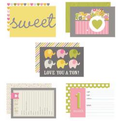 "Baby Girl - Sn@p! Double-Sided Card Pack 4""X6"" 24/Pkg"