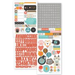 "Cat - Sn@p! Stickers 4""X6"" Sheets 4/Pkg"