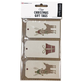 TRADITIONAL X-MAS GIFT TAGS 9PCS