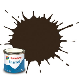 Humbrol enamel 14ml gloss service brown 10