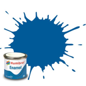 Humbrol enamel 14ml gloss french blue 14