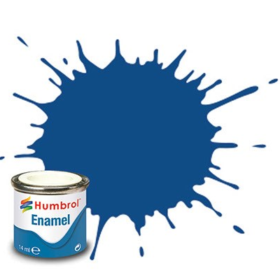 Humbrol enamel 14ml matt blue 25