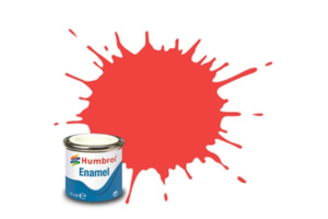Humbrol enamel 14ml gloss fluo.fire orange 209