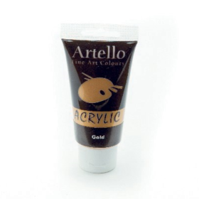 Artello acrylic 75ml gold