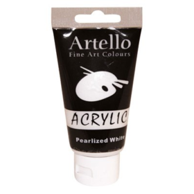 Artello acrylic 75ml pearlized white