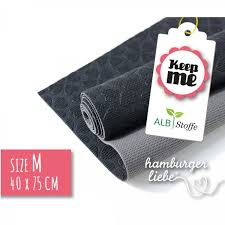 KEEP ME ANTI-SLIDE MAT 40x75cm - sort/grå