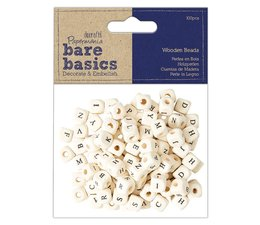 Papermania Bare Basics Wooden Alpha Beads