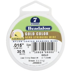 Beadalon wire 7 strand  - gull